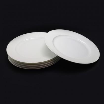 (Set Of 2) Nakano Hans Fine Porcelain Round Rim Dinner Plate Serving Plate, 30.8cm