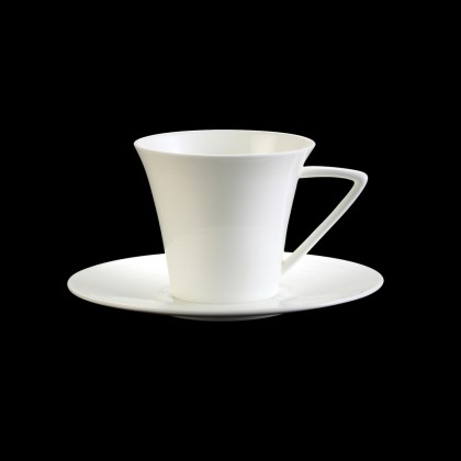 Nakano Hans Series Fine Porcelain Coffee Cup With Saucer Set, 180ml